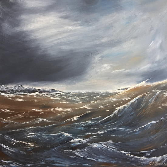 Atlantic Ocean Crossing - Sea Art Gallery - Painting By Cowfold West Sussex Artist Carole Skinner-Rupniak Member of Horsham Arts Open Studios