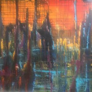 Eruption Woodlands Painting By Cowfold West Sussex Artist Carole Skinner-Rupniak