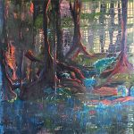 Woodland Reflections Painting By Cowfold West Sussex Artist Carole Skinner-Rupniak