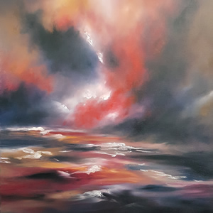 Storm At Sea Oil Painting By Billingshurst West Sussex Artist Keith Coomber