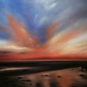 Sunset At Beach East Preston Arun District of West Sussex – Sea Art Gallery
