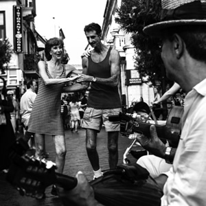 Happy Feet Dancing In The Street Petworth Gallery West Sussex – Ashley Cordwell Fine Art Photography Limited Edition Prints Of Italian Town