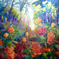 Mad English Summer Garden – Floral Art – Gill Bustamante – Sussex Art Gallery