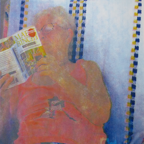 A Quiet Moment Reading A Book - Rye East Sussex Art Gallery - Shirley Parker-Gore Artist