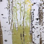 Birches In Spring – Original Screen Prints – Shirley Parker-Gore Art – Rye East Sussex Artist