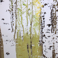 Birches In Spring – Original Screen Prints – Shirley Parker-Gore Art – Rye East Sussex Artist