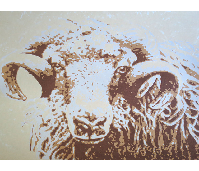 Ram Art - Ramases Original Screen Prints - Acrylic Ink - Shirley Parker-Gore Art - Rye East Sussex Artists