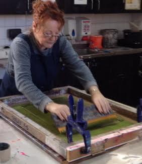 Shirley Parker-Gore - Screen Print Artist In Rye East Sussex Studio