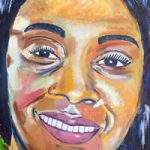 Portrait painting of woman – Isle of Wight Artist