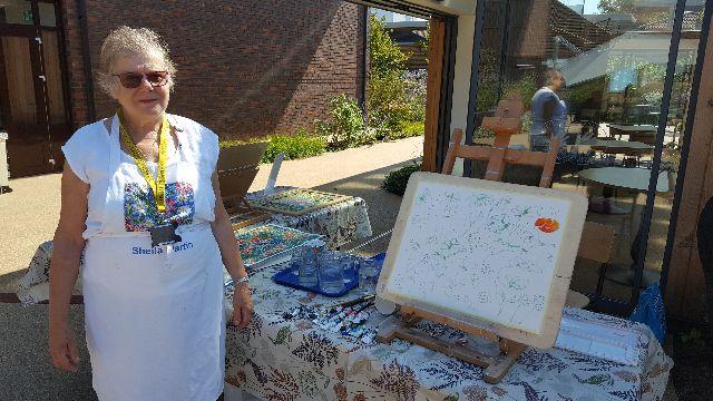 Sheila Martin  - Sussex Artist at Stoke Mandeville Hospital