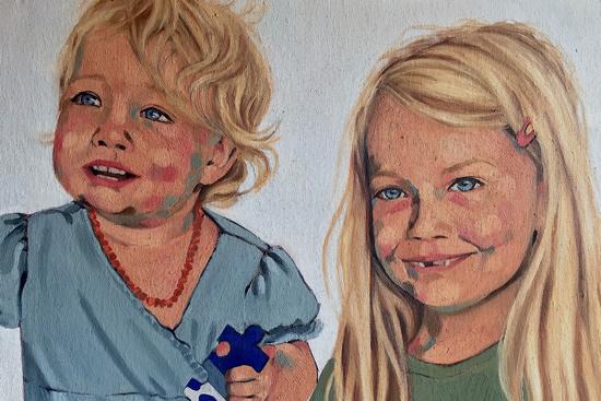 Martha and Alice - Marigold Plunkett - Sussex Artist - Portraits in Oil