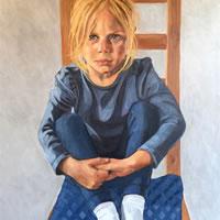 Portrait – Elliott Seated – Marigold Plunkett – Sussex Artist – Portraits in Oil