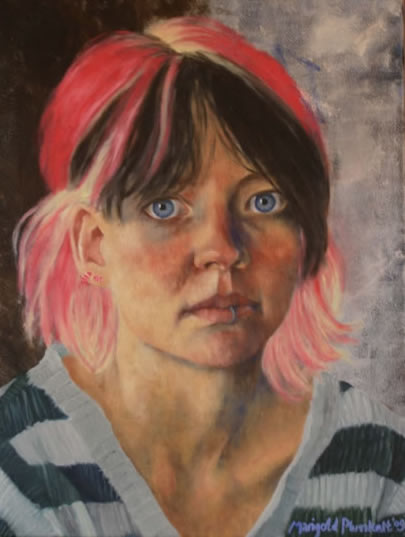 Portrait of Anna - Marigold Plunkett - Sussex Artist - Portraits in Oil, Drawings and Printmaking - Sussex Art Gallery