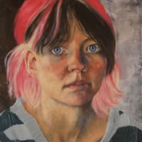 Portrait of Anna – Marigold Plunkett – Sussex Artist – Portraits in Oil, Drawings and Printmaking – Sussex Art Gallery