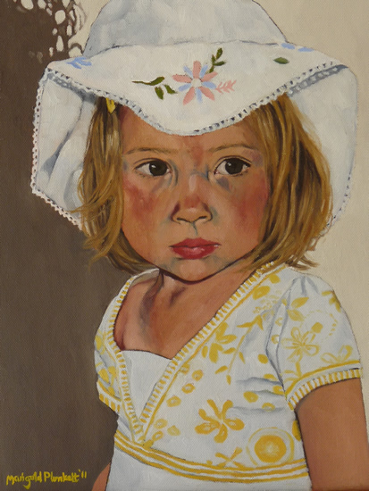 Portrait of Clea - Marigold Plunkett - Sussex Artist - Portraits in Oil, Drawings and Printmaking - Sussex Art Gallery