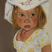 Portrait of Clea – Marigold Plunkett – Sussex Artist – Portraits in Oil, Drawings and Printmaking – Sussex Art Gallery