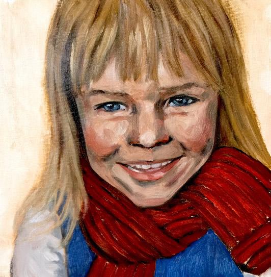 Portrait of Elliot - Sussex Artist Marigold Plunkett