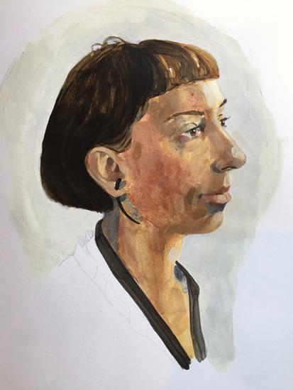 Portrait of Irena - Marigold Plunkett - Sussex Artist - Portraits in Oil