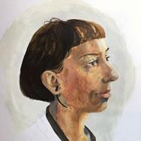 Portrait of Irena – Marigold Plunkett – Sussex Artist – Portraits in Oil