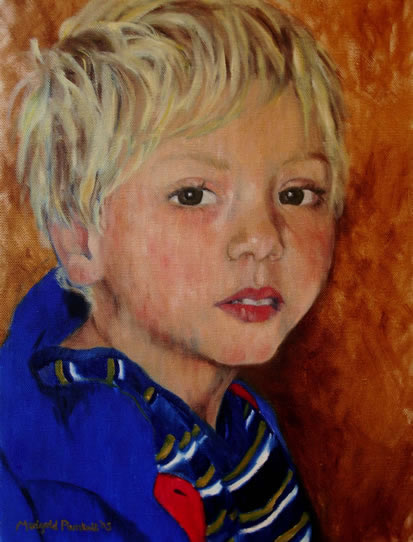 Portrait of Louie - Marigold Plunkett - Sussex Artist - Portraits in Oil, Drawings and Printmaking - Sussex Art Gallery