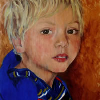 Portrait of Louie – Marigold Plunkett – Sussex Artist – Portraits in Oil, Drawings and Printmaking – Sussex Art Gallery