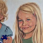 Martha and Alice – Marigold Plunkett – Sussex Artist – Portraits in Oil