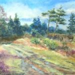Ashdown Forest, near Wych Cross, East Sussex – Pastel Landscape Artist – Juliet Murray – Sussex Artists Gallery