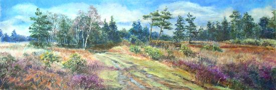 Ashdown Forest near Wych Cross, East Sussex - Juliet Murray - Pastel Landscape Artist - Sussex Artists Gallery