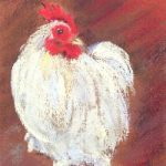 Bantam Cockerel – East Sussex Artist Juliet Murray – Sussex Artists Gallery – Pastel Landscape Artist