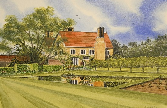 Batemans, East Sussex - Watercolour - East Sussex Artist Dave Styles - Sussex Artists Gallery