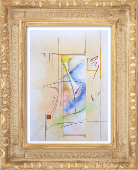 Contemporary, Abstract Art - Joy (2014) - West Sussex Artist - Agustin A. Castro - Watercolours, Mixed Media and Oils - Gallery