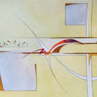Contemporary, Abstract Art – Surprise (2015) – West Sussex Artist – Agustin A. Castro – Watercolours, Mixed Media and Oils – Gallery