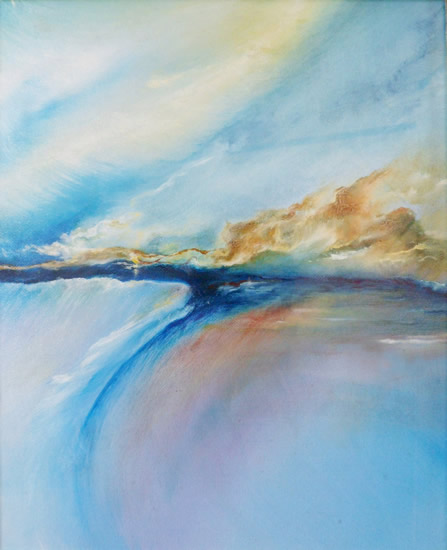 Contemporary, Abstract Art - Wind Turns the Tides (2010) - West Sussex Artist - Agustin A. Castro - Oils