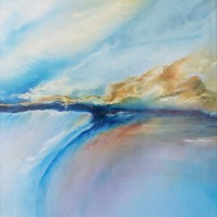 Contemporary, Abstract Art – Wind Turns the Tides (2010) – West Sussex Artist – Agustin A. Castro – Oils