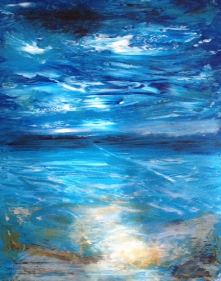 Contemporary Art - Awakening - East Sussex Artist Lin Chatfield - Contemporary Landscape and Seascape Painter- Sussex Artists Gallery
