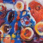 Contemporary Art – Whispers of Joy – West Sussex Artist – Emma Cooper – Acrylic and Mixed Media on Canvas – Sussex Artists Gallery