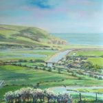 Cuckmere Haven from Frog Firle Farm – East Sussex – Juliet Murray – Sussex Artist Gallery – Pastel Landscape Artist