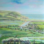 Cuckmere Haven from Frog Firle Farm – East Sussex – Juliet Murray – Sussex Artist Gallery – Pastel Landscape Artist