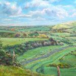 Cuckmere Valley – East Sussex Artist Juliet Murray – Sussex Artists Gallery – Pastel Landscape Artist