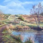 Ellison's Pond, Ashdown Forest – East Sussex Artist Juliet Murray – Sussex Artists Gallery – Pastel Landscape Artist