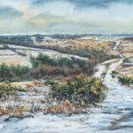 First Snows, Old Lodge Valley, Ashdown Forest – Juliet Murray – Sussex Artist Gallery – Pastel Landscape Artist