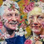 Floral Portrait – Dad and Jane – Felicity MeachEm – West Sussex Fine Artist – Portraits in Oil