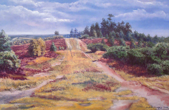 Gills Lap, Ashdown Forest, East Sussex - Juliet Murray - Pastel Landscape Artist - Sussex Artists Gallery
