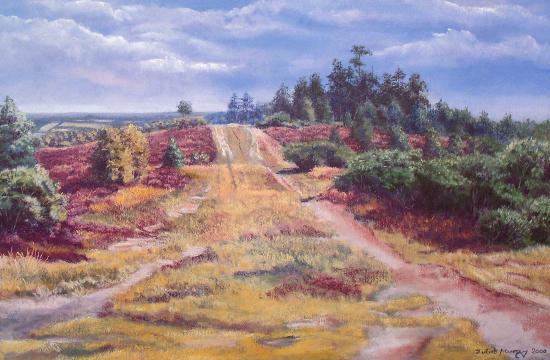 Gills Lap, Ashdown Forest, East Sussex - Juliet Murray - Pastel Landscape Artist - Sussex Artists Gallery