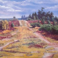 Gills Lap, Ashdown Forest, East Sussex – Pastel Landscape Artist – Juliet Murray – Sussex Artists Gallery