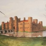 Herstmonceux Castle, Near Hailsham, East Sussex – Watercolour – East Sussex Artist Dave Styles – Sussex Artists Gallery