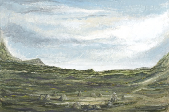 Landscape - Stone Circle - In Two Places - West Sussex Artist - Bleau Shanay Hudson - Woodland Art - Sussex Artists Gallery