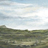 Landscape – Stone Circle – In Two Places – West Sussex Artist – Bleau Shanay Hudson – Woodland Art – Sussex Artists Gallery