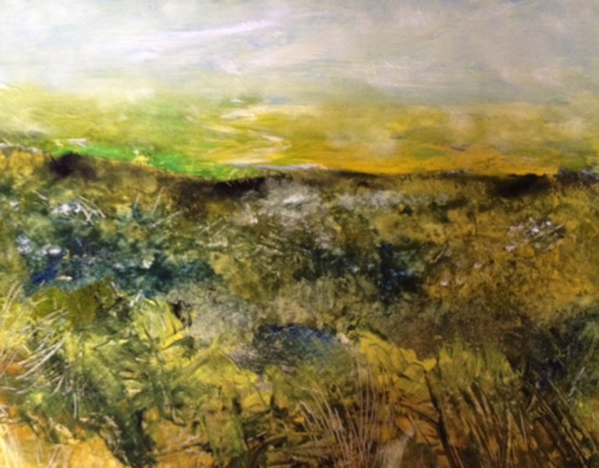 Mist in the Valley - East Sussex Artist Lin Chatfield - Contemporary Landscape and Seascape Painter- Sussex Artists Gallery