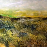 Mist in the Valley – East Sussex Artist Lin Chatfield – Contemporary Landscape and Seascape Painter- Sussex Artists Gallery